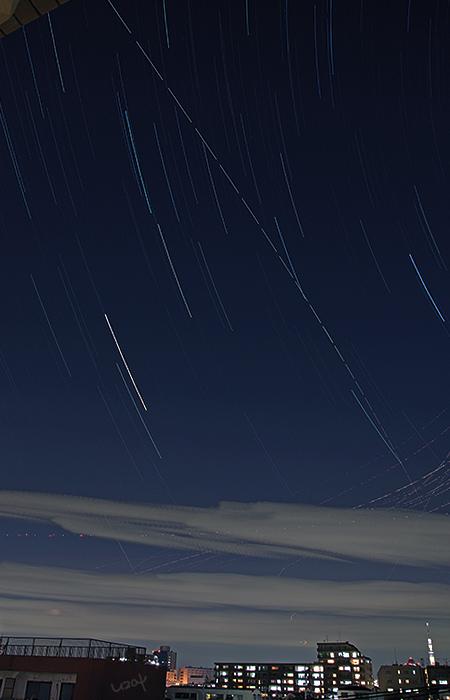 ISSと星の日周運動