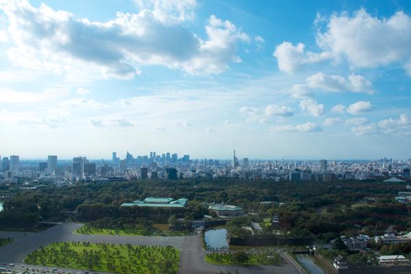 皇居・新宿を望む